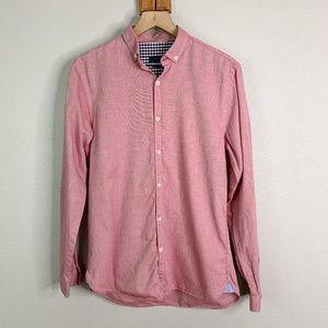 Zara Man | Slim Fit Red Button Down Shirt (sz M)